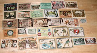 World Coins - 30 German paper notgeld, mostly unc - Landeck, Lindenberg.......