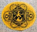 World Coins - German emergency money printed on velvet - 1 dollar / 4.20 goldmark - golden orange