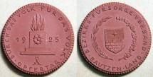 World Coins - Rare German brown porcelain medal