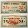 Depression scrip - Heppner Sheepskin Scrip - 25 cents
