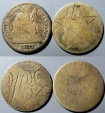 2 Seated Liberty Dimes - Love Tokens?  Pentagram and......