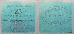 World Coins - German emergency money printed on card stock - 25 pfennig Bodenwerder