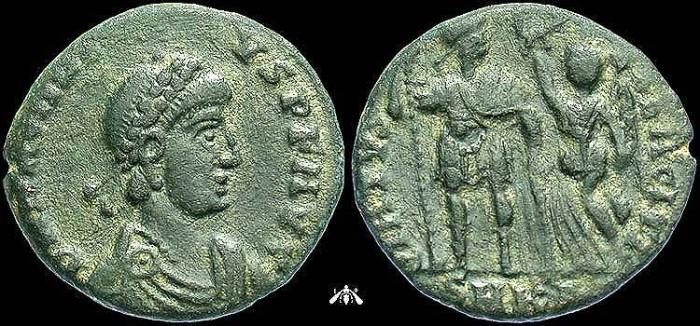 Ancient Coins - Arcadius, AE3 of Cyzicus Mint, VIRTVS EXERCITI Reverse