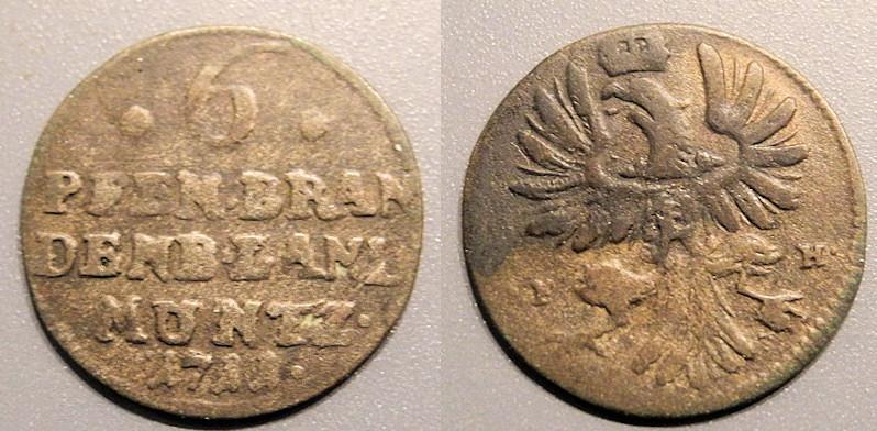 Brandenburg-Prussia, 1701-1713, 6 pfennig - Friedrich I