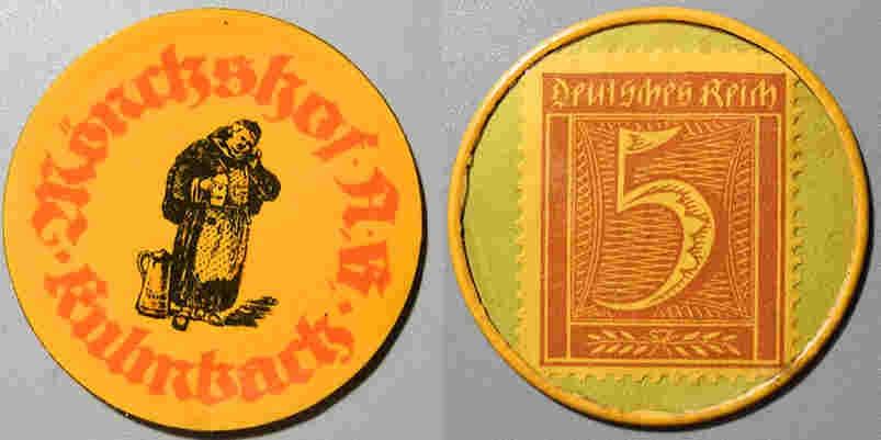 World Coins - German encased postage - Monschaf, Kulmbach - Empty Beer, sad monk.........