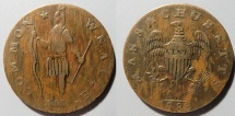 Us Coins - US Colonial Coin - Massachussetts, 1788 Cent, Ryder 3-A
