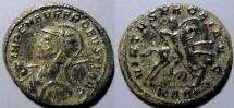 Ancient Coins - Probus, 276-282 AD, AE antoninianus - Probus on horseback