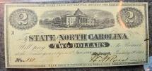Us Coins - North Carolina Civil War Currency, 1863 $2, PMG 63