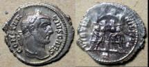 Ancient Coins - Constantius I AR argenteus - excellent obverse!!