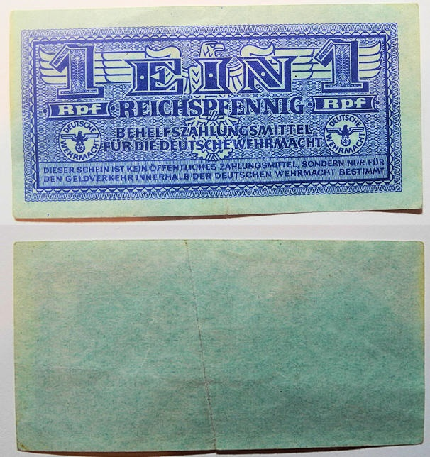 World Coins - German military currency - 1 pfennig - Werhmact, 1942