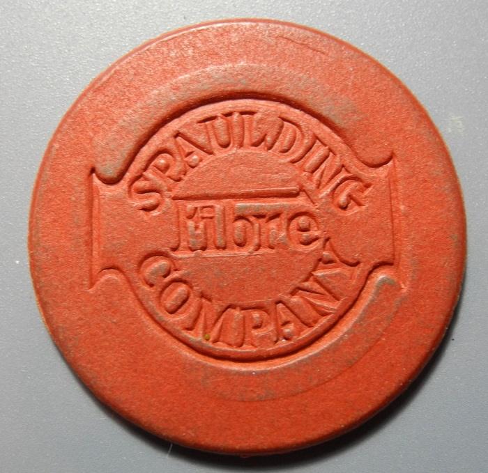 World Coins - Red vulcanized fiber token - Spaulding Fibre Company - Tona