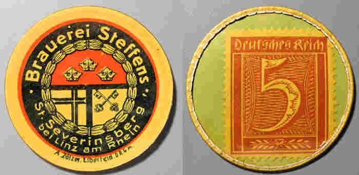 World Coins - German encased postage - 5 pfennig - Braurei Steffens