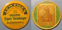 World Coins - German encased postage - briefmarkengeld - JPW Eigen - 50 pfennig Germania