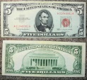 uncirculated 5$ red seal note - 1963 - Federal Reserve Note