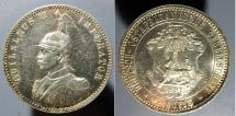 World Coins - German East Africa, 1/2 Rupie, 1891 - proof-like fields