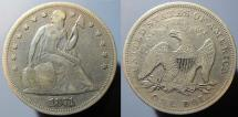 Us Coins - attractive 1871 Seated Liberty Dollar