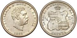 Us Coins - USA. 1883 Hawaii 25 Cent, about uncirculated