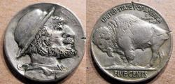 Us Coins - Hobo Nickel - Derby Hat.   Odd.  Amusing.  Interesting
