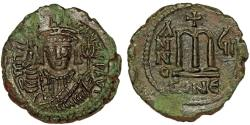 Ancient Coins - Byzantine AE follis, Maurice Tiberius, sharp!!