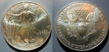 Us Coins - American Silver Eagle - 1998, bright, attractive - US Mint issue silver coin