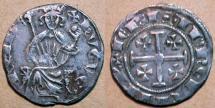 World Coins - Crusader silver coin, Cyprus, Hugh Hugh IV 1324-1359 AD, AR gris