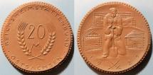 World Coins - German brown porcelain medal - 1921 - East Saxony