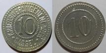 World Coins - German metal emergency money - Cassel, 10 pfennig - zinc