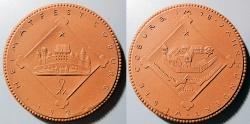 World Coins - German brown porcelain medal, Coburg, 1924