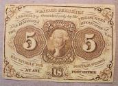 Us Coins - Fractional Currency - 5 cents