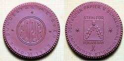 World Coins - German brown porcelain medal - Papier & Schreibwarenhandler
