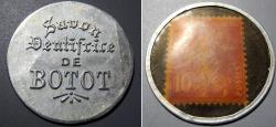 World Coins - French encased postage - 1920, Savon Dentifrice de Botot - 10 centimes