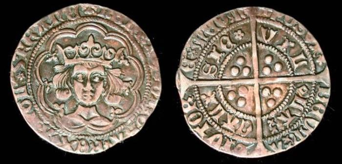 Ancient Coins - England, Henry VI, 1422-1461 AD, Groat Calais