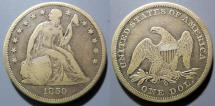 Us Coins - USA - Seated Liberty Dollar, 1859-O, a little better than Fine.  Attractive