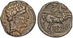 Ancient Coins - ANCIENT IBERIA (Spain), Bolskan, 150-100 BC, silver denarius