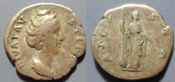 Ancient Coins - Faustina Senior AR denarius, 141 AD, Ceres reverse