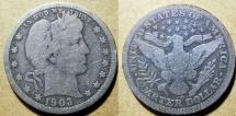 Us Coins - USA - Barber quarter, 1903-O - Good