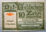 World Coins - Briefmarkengeld Magdeburg Landessammelstelle der Grenzspende - 10 pfennig- encased postage