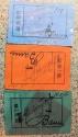 World Coins - set of 3 emergency money printed on linen - Lauenburg 10 pf / 1 Mk / 2M