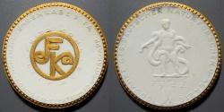 World Coins - German gold gilded, white porcelain medal - Leipzig, 1922, 100 year Ges. Deutscher Naturforscher