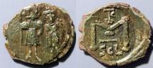Ancient Coins - Byzantine follis, Constans II, 641-6668 AD - Sicily