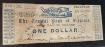 Us Coins - Civil War currency - Virginia 1862 - one dollar