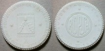 World Coins - German white porcelain medal - Papier & Schreibwarenhandler