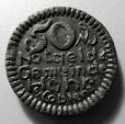 World Coins - German black porcelain coin - Hohr, Coblenz - 50 pfennig