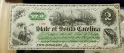 Us Coins - Obsolete currency, South Carolina, Columbia, 1873 - cut cancelled