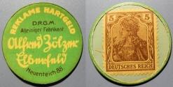 World Coins - German encased postage, Reklame Hartgeld, Alfred Zölzer, Elberfeld - 5 Pfennig