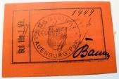 World Coins - German emergency money printed on linen - 1 Mark, Lauenburg