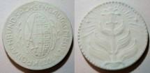 World Coins - Unusual German porcelain medal - 1921 Meissen - Kronachbund Sachsengautag