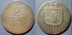 World Coins - Braunschweig-Lüneburg, George III, 1760-1820 AD, 2/3 Taler, 1803