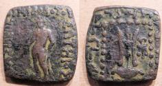 Ancient Coins - Indo-Greek, Apollodotus I, 160-150 BC, 22mm