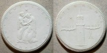 World Coins - German white porcelain medal - hard times releif medal, Liegnitz